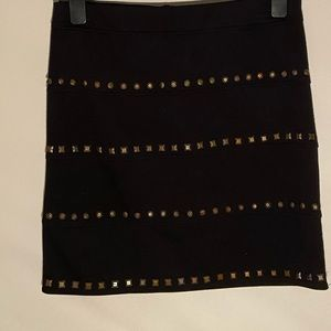 Black beaded skirt